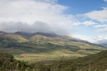 Cloudy rolling hills of Cotopaxi National Park
