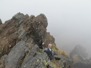 Sat at the top of Ruminahui