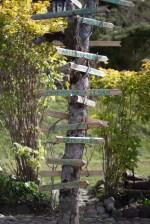 Signpost in the Secret Garden
