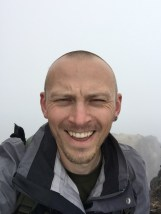 Squinting in the cloud at the top of Ruminahui
