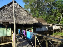 The relatively luxurious huts