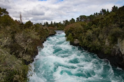 Haka Falls downstream