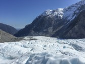Downhill view of Fox Glacier