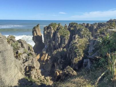 Pancake rock columns at Punakaiki