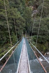 Rope bridge at Ngakawau