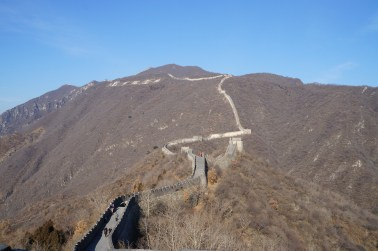 The Mutianyu section of the wall winds for 2,250m along the mountains