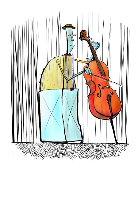 Cello robot