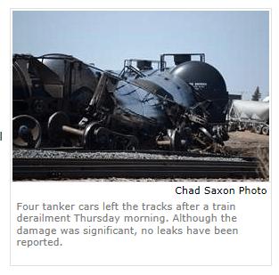 Estevan, Saskatchewan derailment sm