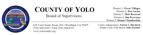 Yolo County Board of Supervisors