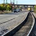 Bayshore Road, oily black coke residue embedded in railroad ties (mjb oct 2013)