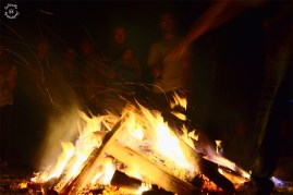 The big campfire, chill and warm-up while the bass vibrates in ears and body.