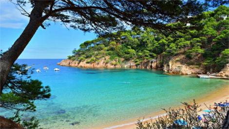 Costa Brava beach in Salou