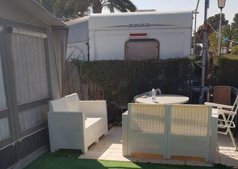 Used Touring Caravan For Sale On Camping Villamar Campsite In Benidorm