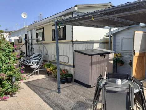 Residentail static caravan for sale on Camping Benisol campsite in Benidorm
