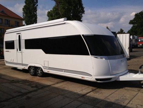 Hobby caravan for sale on Camping Raco Campsite in Benidorm