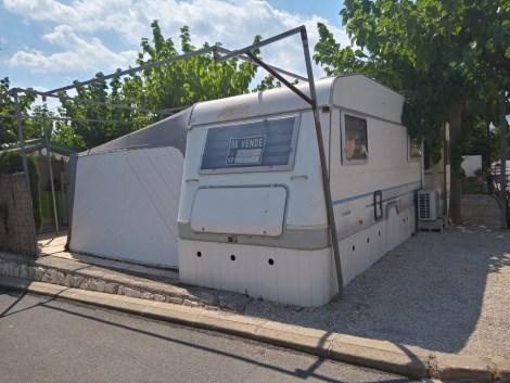 Used touring caravan for sale on Camping Villasol Campsite in Benidorm