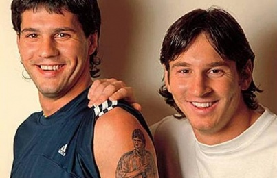 Le tatouage du frère de  Messi