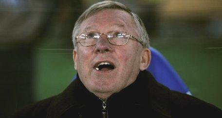 Alex Ferguson et son chewing-gum