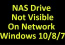 How To Fix NAS Drive Not Visible On Network Windows 10/8/7