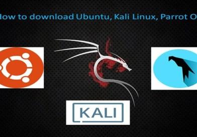 How to download Ubuntu, Kali Linux, Parrot OS….