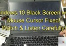 Windows 10 Fixed! Black Screen w/ Mouse Cursor: 2 Easy Options!!