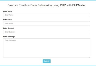 How to Send an Email in PHP using PHPMailer