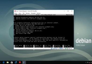 Installasi Dan Konfigurasi DHCP Server Debian 9