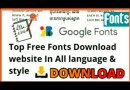Top  Free Fonts Download website In All language & style