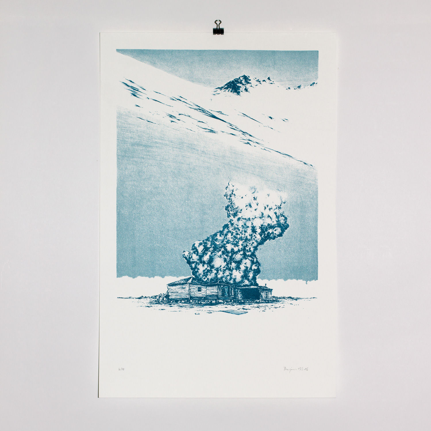Cold explosion - Lithographie