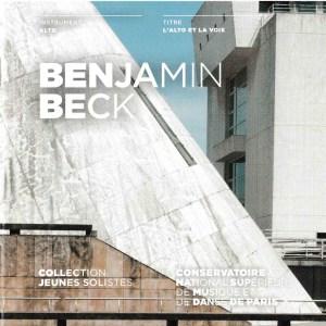 musician, viola, Benjamin Beck, CD