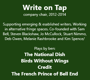 Ben Dickenson was a theatre writer for Write on Tap