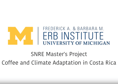 SNRE Master's Project: Coffee and Climate Adaptation in Costa Rica
