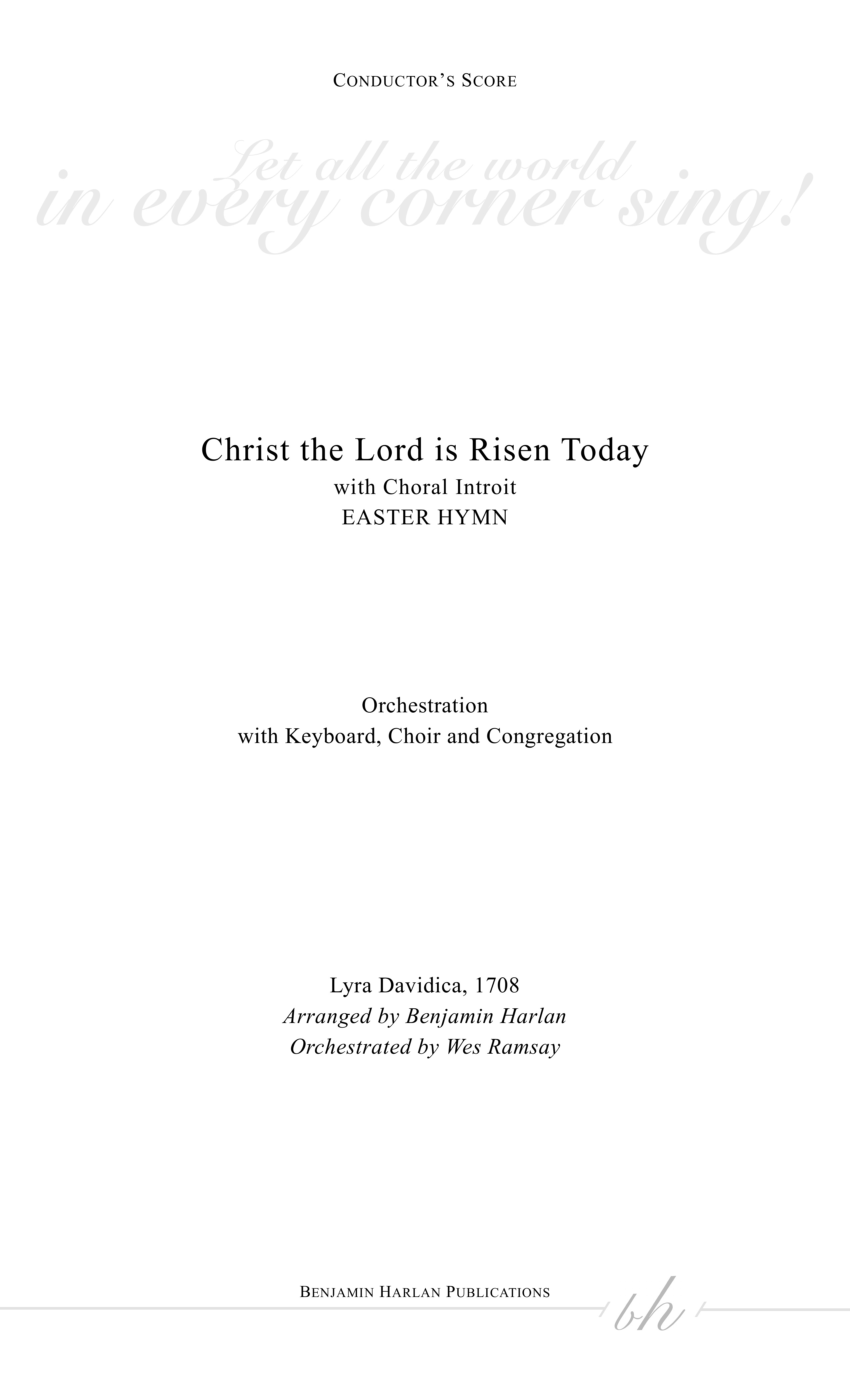 Christ the Lord is Risen Today (with Introit) ORCH