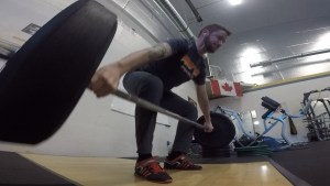 Training some Snatch Grip Deadlifts in Kelowna, BC