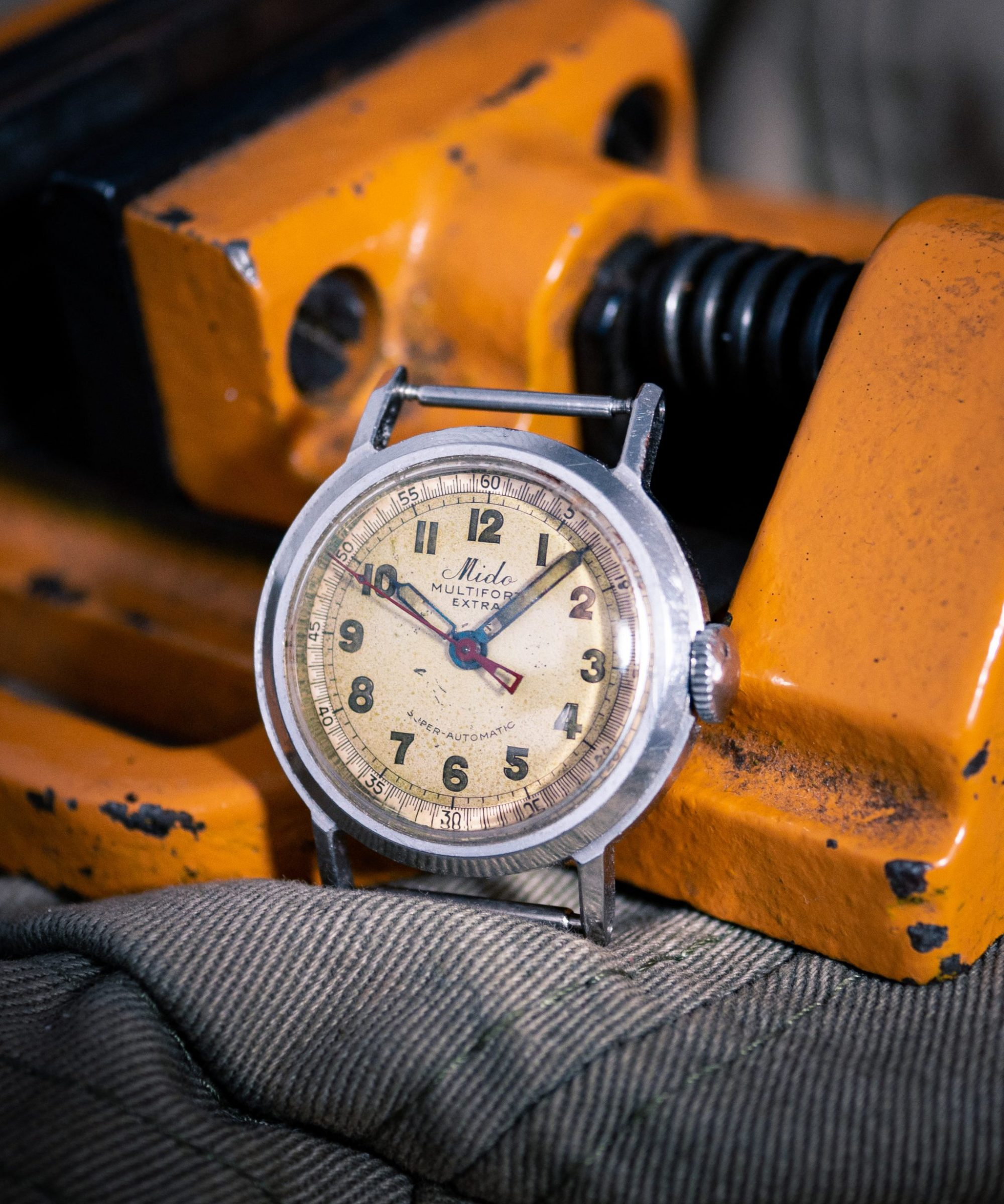 Vintage Mido Multifort Extra Super Automatic FB case Borgel Case Taubert Case Brit Pat case Mido multifort vintage watch