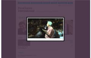 Screenshot of Paracomm WordPress CMS media page video modal box