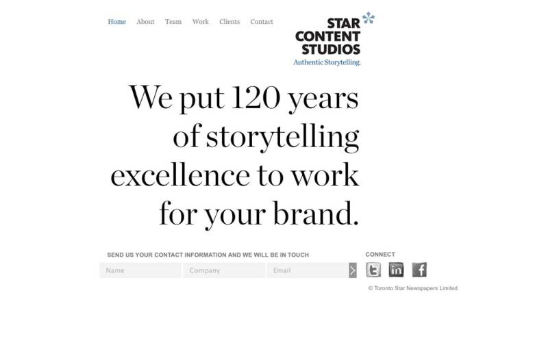 Screenshot of SCS Wordpress CMS home page