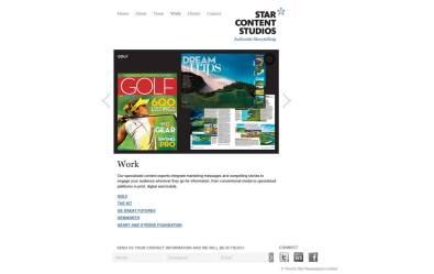 Screenshot of SCS Wordpress CMS portfolio page tempalte