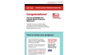 Screenshot showing the top section of the Heart & Stroke Foundation custom HTML Email Newsletter