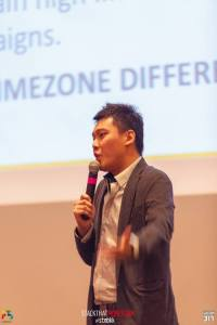 Taken while I was speaking on the stage during STM Bangkok meetup. Credit to 317 Media.