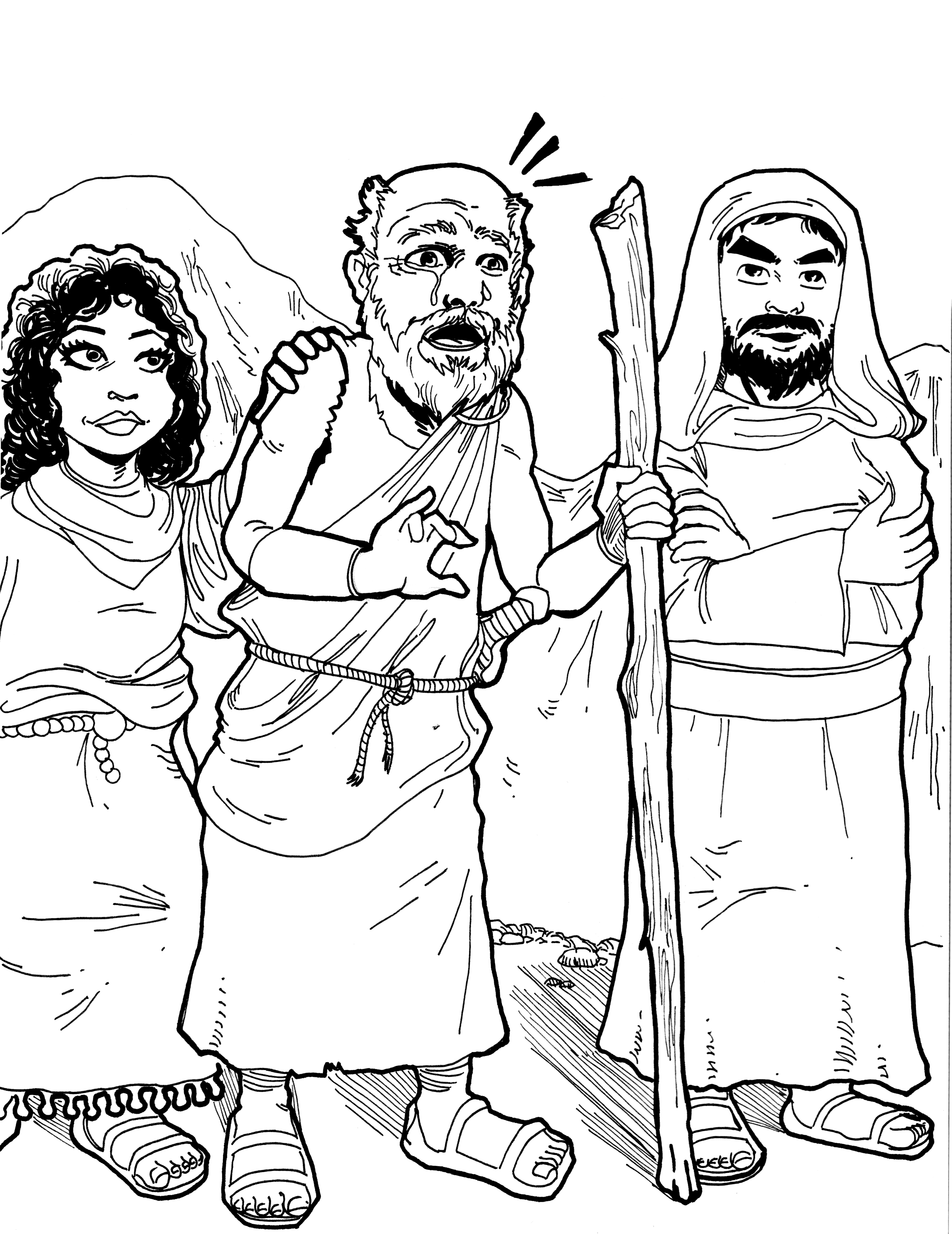 Free coloring pages of apostle paul shipwrecked