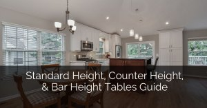 Standard Heights For Kitchen Counter and Cabinets To Work Efficiently