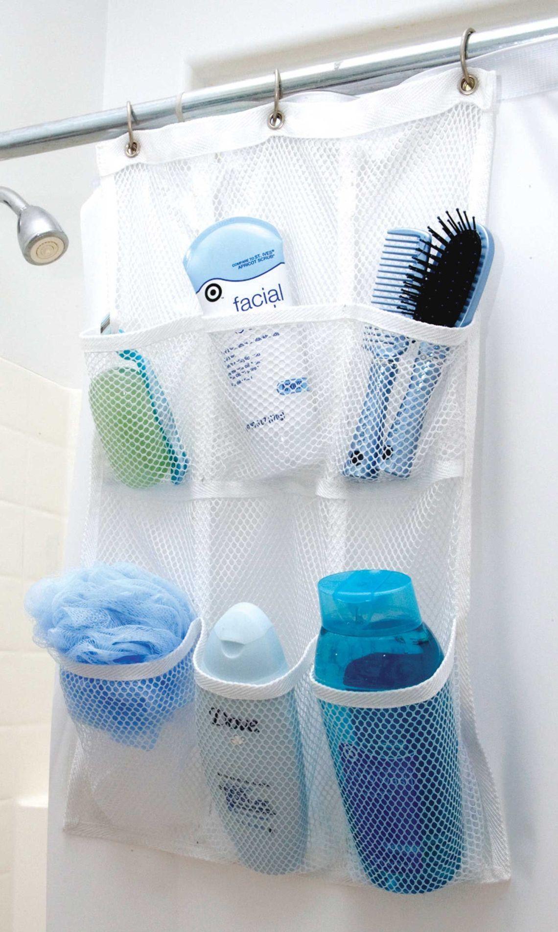 bathroom pocket organizer DIY