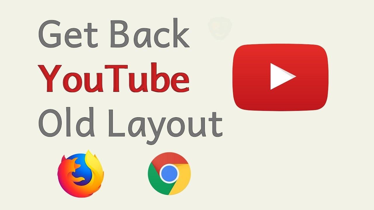 old YouTube layout
