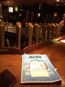 A look inside the bar. This menu is a catalog book of all 3,014 beers offered at the bar.