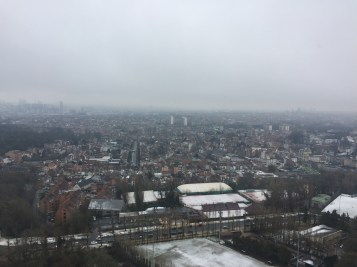 An overlook of the city of Brussels.