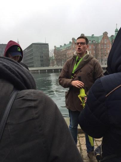 Our tour guide in Copenhagen.