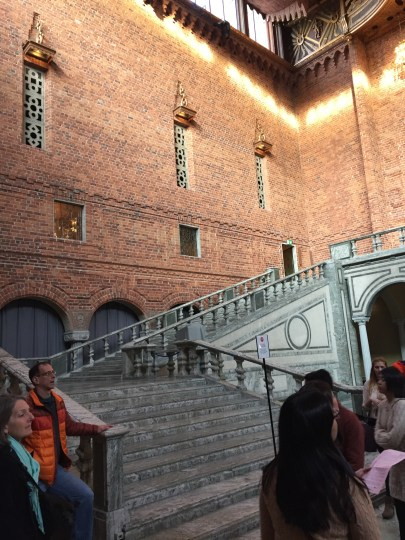 If you have ever watched the Nobel Peace Prize ceremony on TV, this is where the banquet takes place! You will probably recognize this staircase.