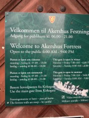 Once it was daylight, we headed to the Akershus Fortress within Oslo. It is basically a castle with a fortress around it.