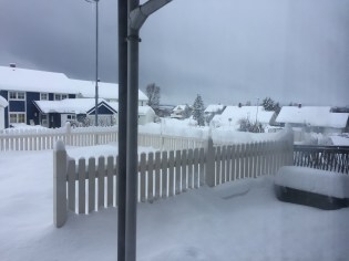 Look at all of the snow. Tromsø got over 2 feet of snow within the 3/4 days before we arrived. No wonder we had trouble landing.